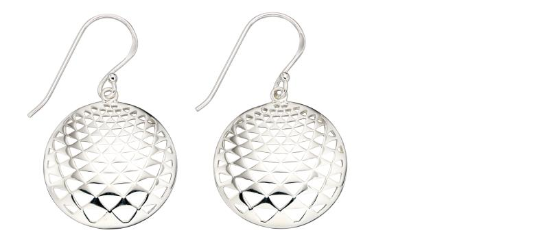 3D Effect Disc Drop Earrings