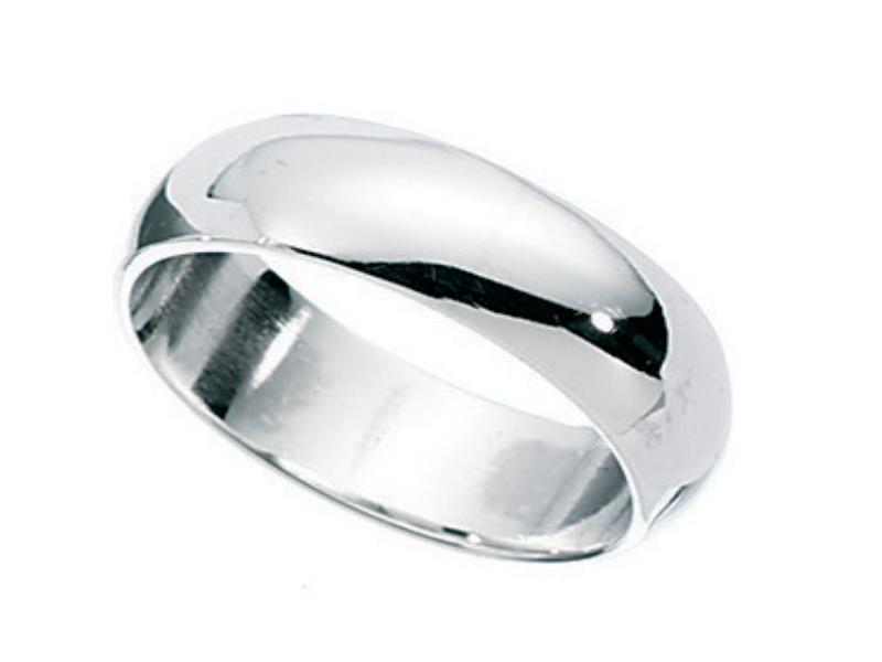 5mm Plain Silver Wedding Band Ring Size T