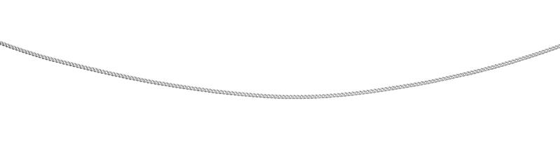 9ct White Gold Curb Chain With Extender