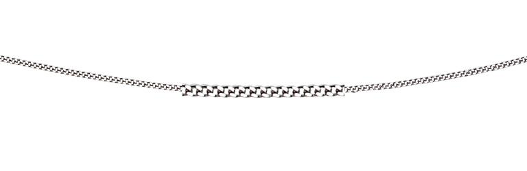 9ct White Gold Diamond Cut Curb Chain