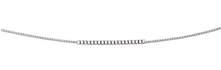 9ct White Gold Venetian Box Chain