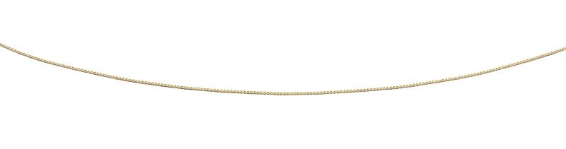 9ct Yellow Gold Box Chain With Extender