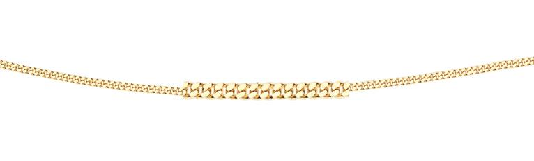 9ct Yellow Gold Diamond Cut Curb Chain