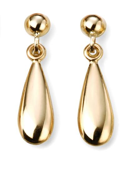 9ct Yellow Gold Lariat Matching Tear Drop Earrings