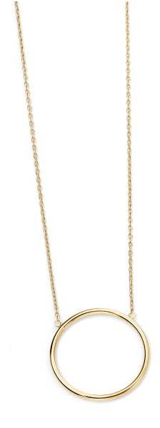 9ct Yellow Gold Open Circle Necklace