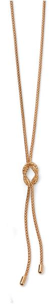 9ct Yellow Gold Rope Knot Lariat Necklace