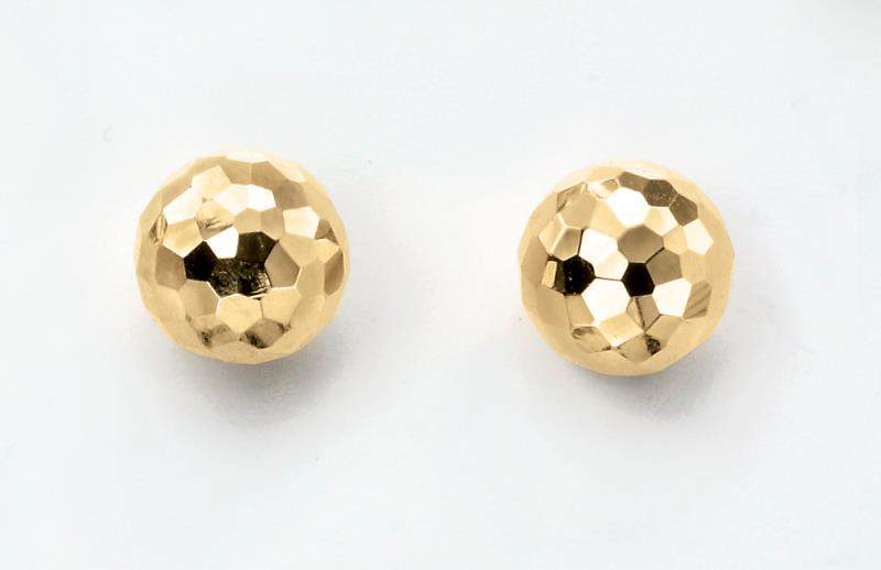 9ct Yellow Gold Textured Ball Studs