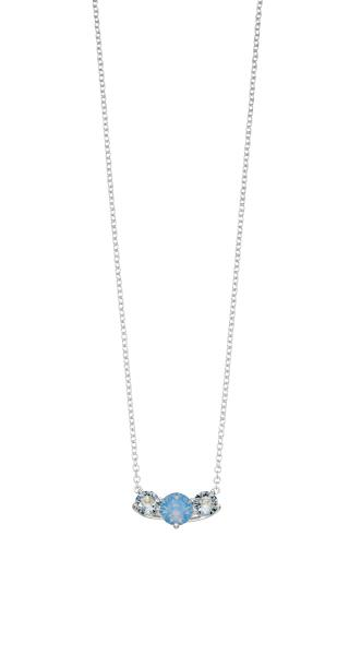 Air Blue Opal And Denim Blue Swarovski Necklace