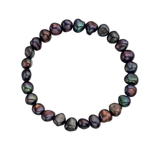 Black Freshwater Pearl Cultured Bracelet