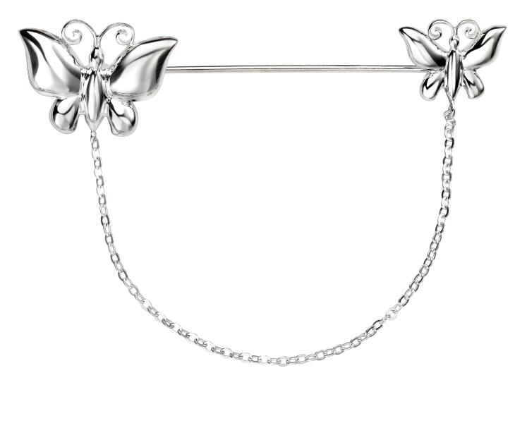Butterfly Brooch With Chain