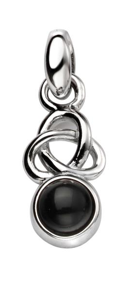 Celtic Pendant With Black Agate