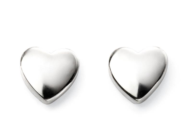 Childrens Heart Stud Earrings