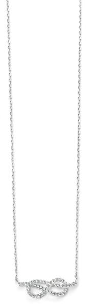 Clear CZ Infinity Necklace 42+3Cm