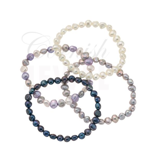 Cultured Pearl Bracelet Freshwater Pearls - Choose Colour