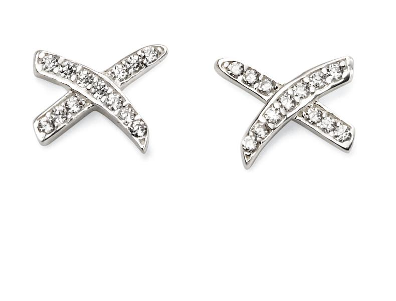 CZ Kiss Earrings