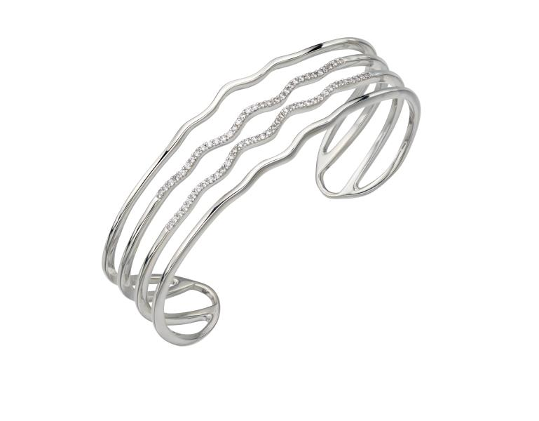 CZ Wave Bangle
