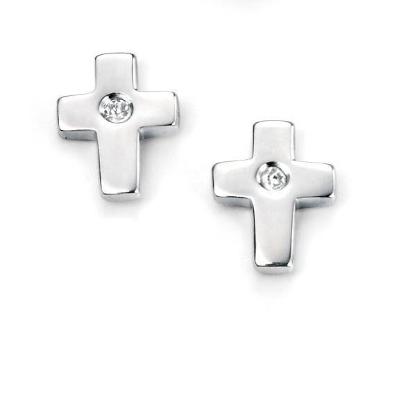 D For Diamond Cross Earrings