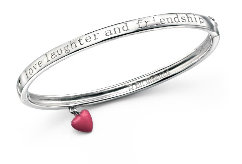 D For Diamond Love, Laughter And Friendship Bangle