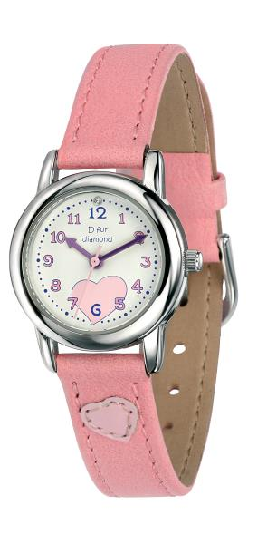 D For Diamond Pink Girls Watch
