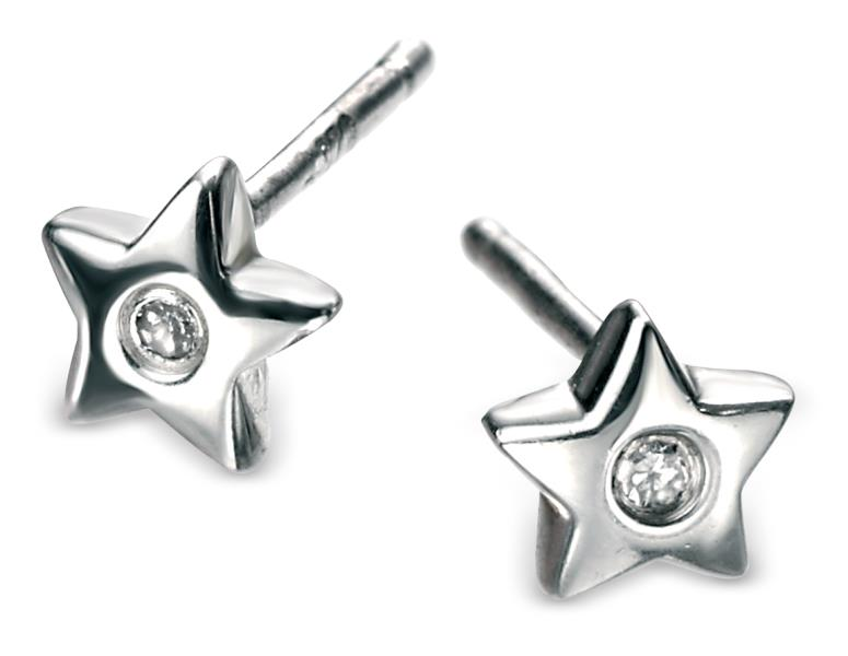 D For Diamond Star Stud Earrings