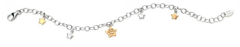 D For Diamond Wish Upon A Star Charm Bracelet