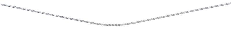 Diamond Cut Curb Chain With Rhodium Plate