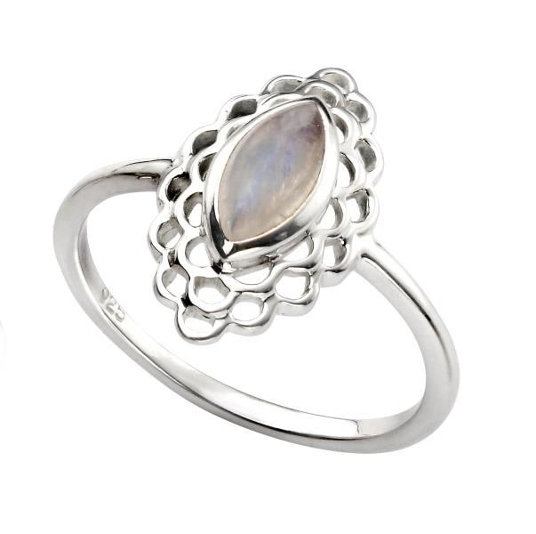 Filigree Ring With Moonstone