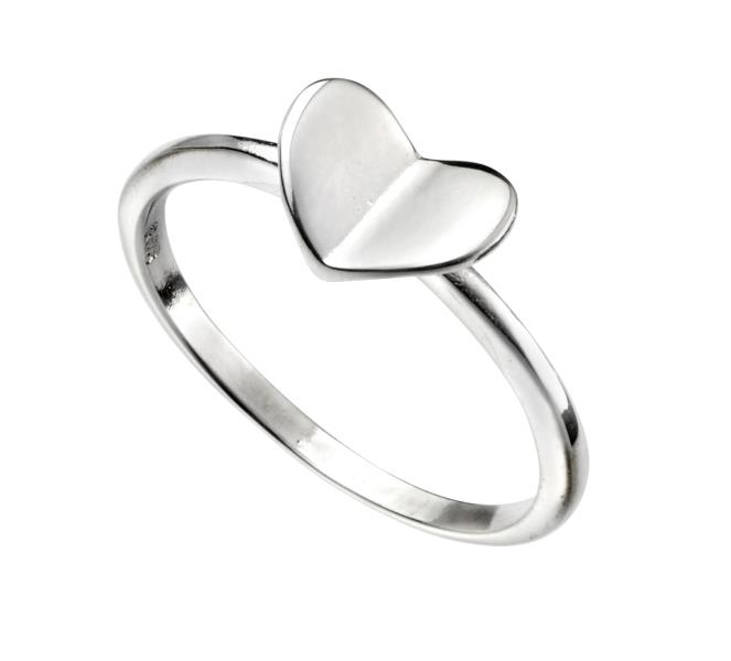 Folded Heart Ring