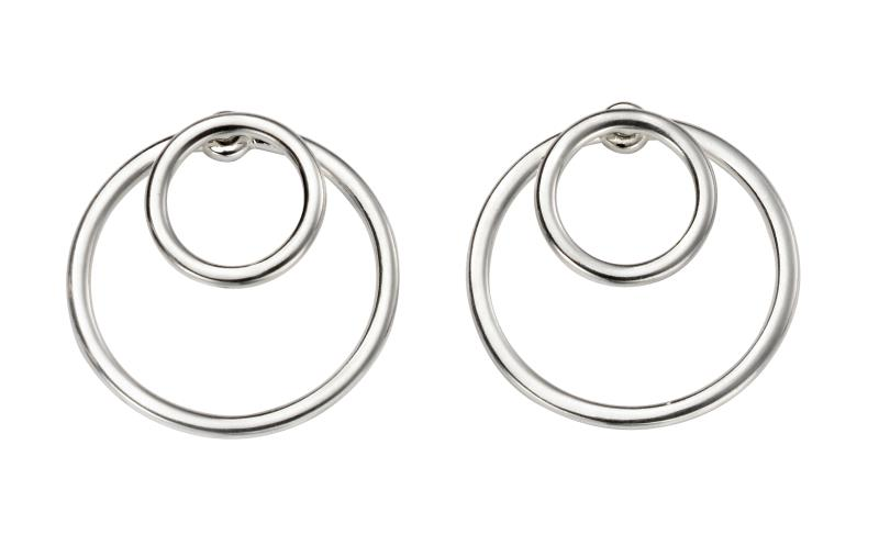 Front And Back Circle Earrings