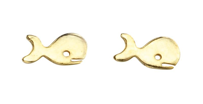 Gold Whale Studs