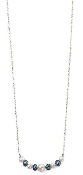 Grey And White FWP Necklace