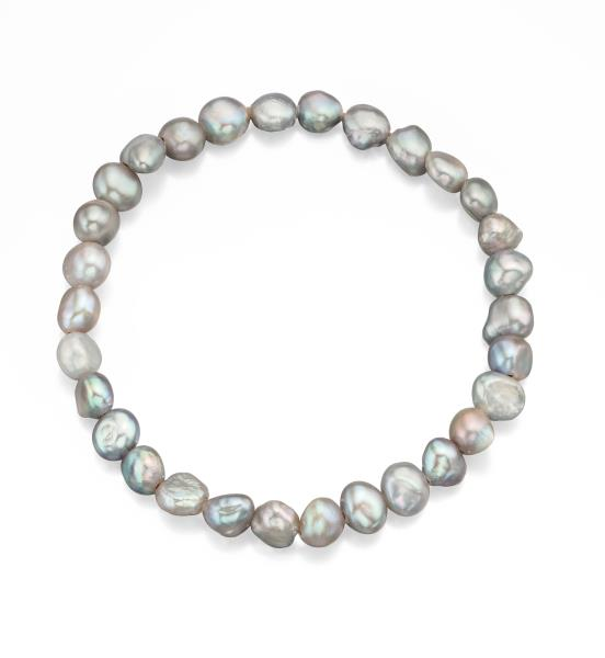 Grey Freshwater Pearl Cultured Bracelet