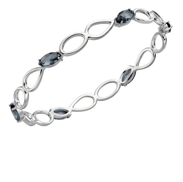 Grey Nano Crystal Bangle