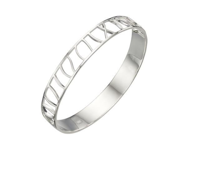 Half Cut Out Oval Bangle