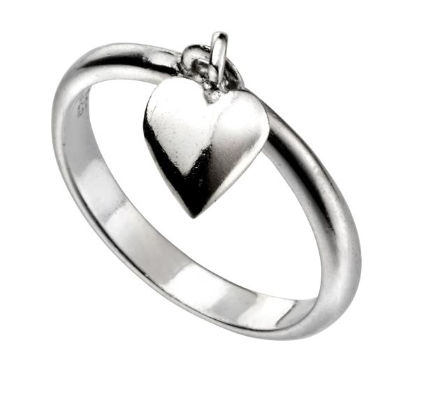 Heart Dangle Ring