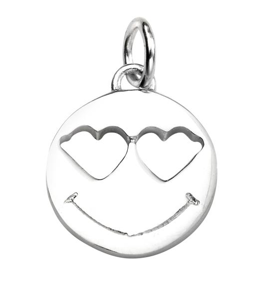 Heart Eyes Emoji Pendant