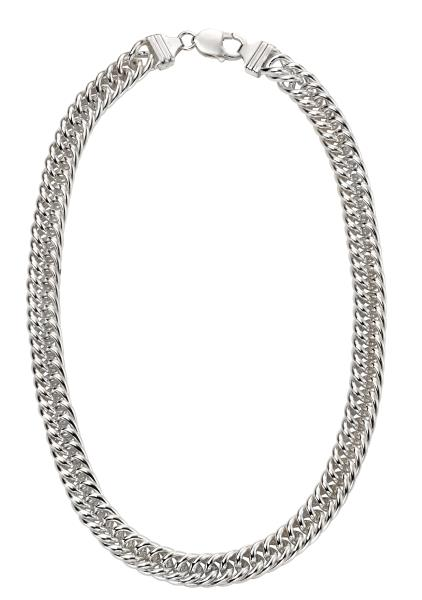 Heavyweight Close Curb Necklace 50Cm