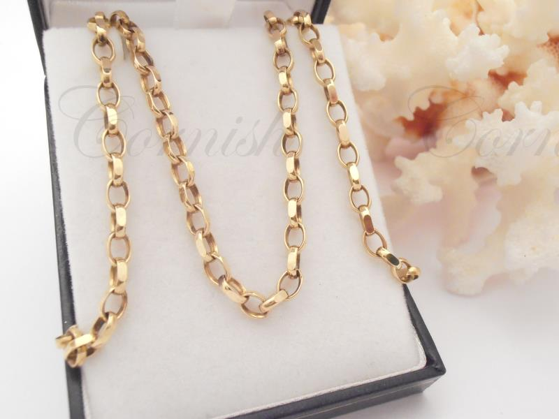 "Ladies 9ct Gold Belcher Chain 20 3/4"" 14.84G"
