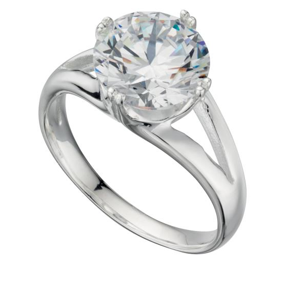 Large Cz Solitaire Ring