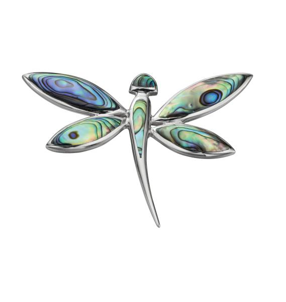 Large Paua Shell Dragonfly Pendant