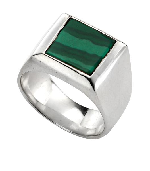 Malachite Signet Ring