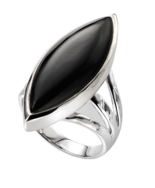 Marquise Ring With Black Onyx
