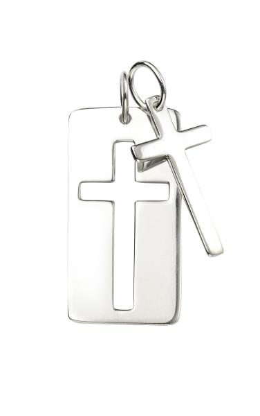 Men's Double Cross & Dog Tag