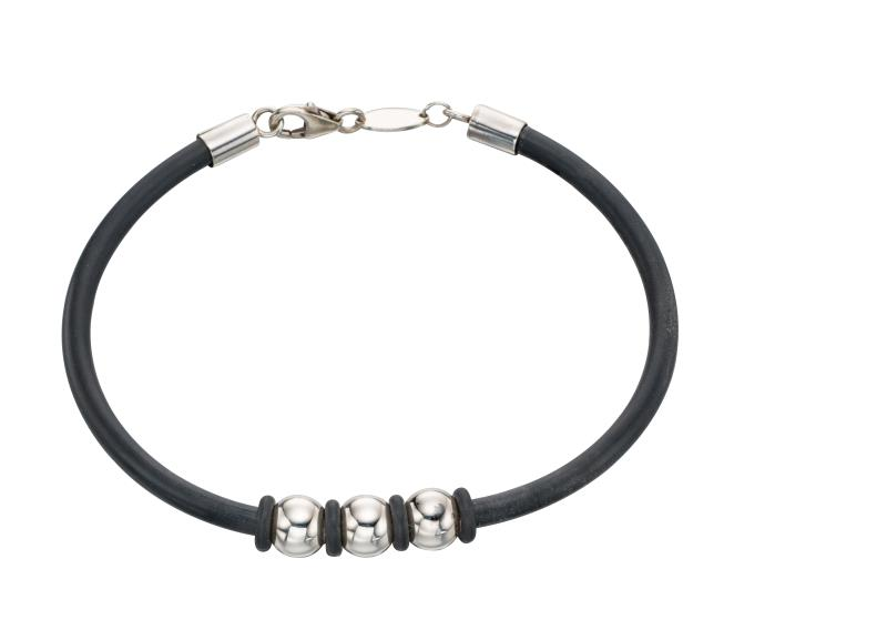 Steel Ball Rubber Bracelet