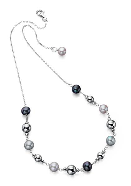 Multi Colour Freshwater Pearl Bead 46Cm Necklace