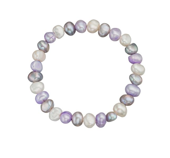 Multi Coloured Freshwater Pearl Cultured Bracelet