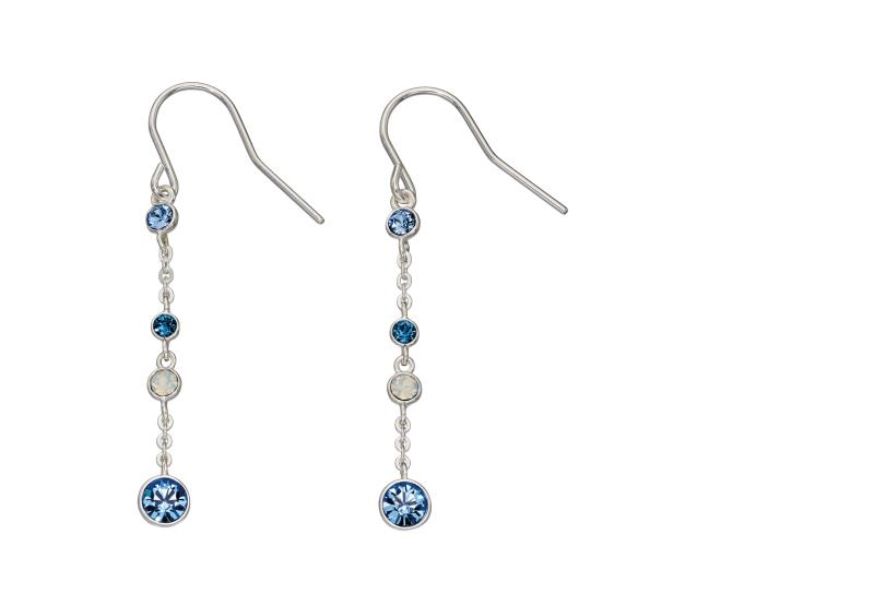 Ombre Blue And Opal SWAROVSKI Design Earrings