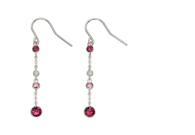 Ombre Pink And Opal SWAROVSKI Design Earrings
