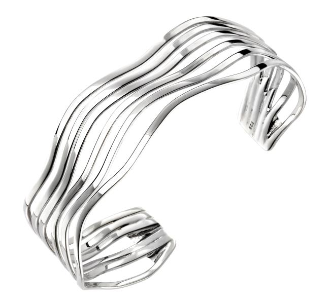 Open Multi Wave Bangle
