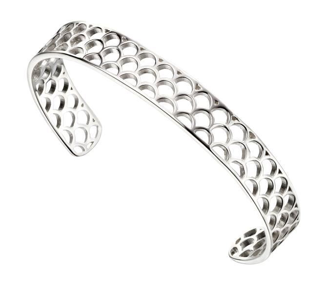 Open Semi Circle Pattern Bangle
